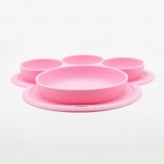Talerz Silikonowy  Różowy  BLW